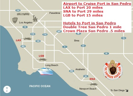 Celebrity Century Map Port Hotels Airport