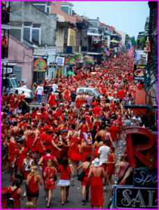 Red Dress Naughty in Nawlins