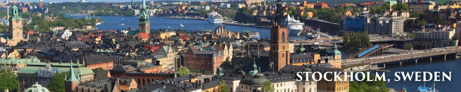 Baltic Itinerary Stockholm Sweden