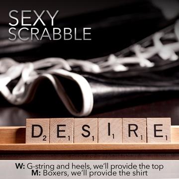 Desire Cruise Sexy Scrabble
