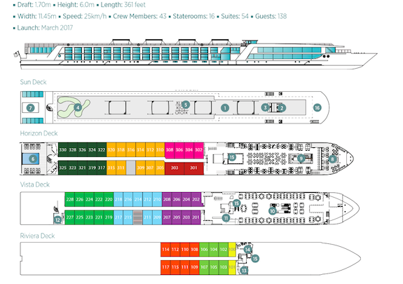 Passion Suite River Cruise Deck Plan