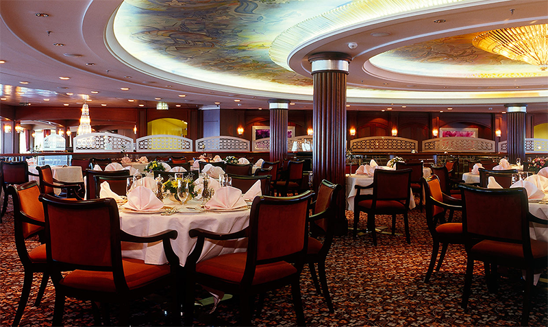 Alaska Swinger Cruise Main Dining room is Crystal Room
