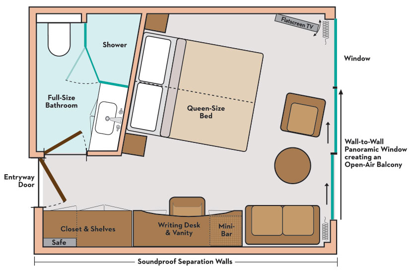 Paris Normandy Swinger Cruise Panorama Suite Floor Plan