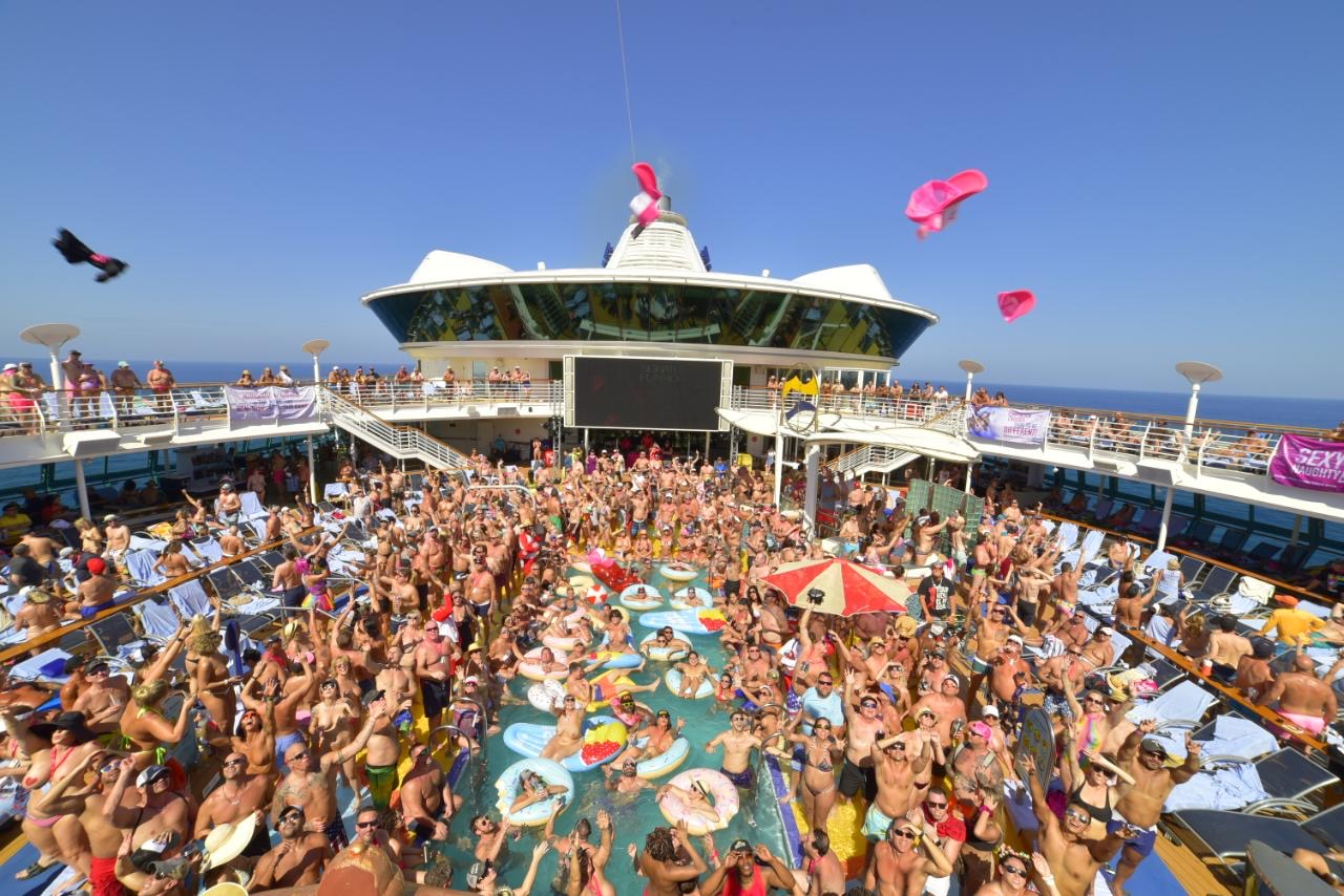 temptation cruise review photo of wild pool party