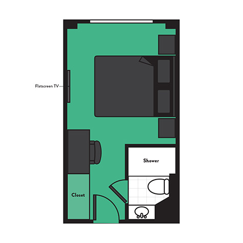 Rockstar Rhine River Cruise Studio Cabin Floor Plan