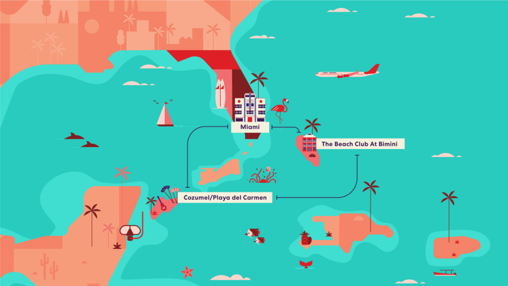 Virgin Voyages Birthday Bash Itinerary Map